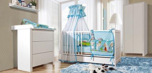 Belivin Babybett Milano – Umbaubar zum Juniorbett - 8