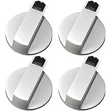 SGerste - Juego de 4 perillas de control giratorias universales de metal para cocina, cocina