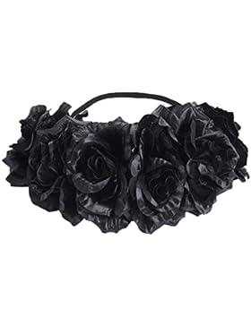 vovotrade Mujer Flores Cabello Guirnalda corona Venda Floral Guirnalda Banda para el cabello