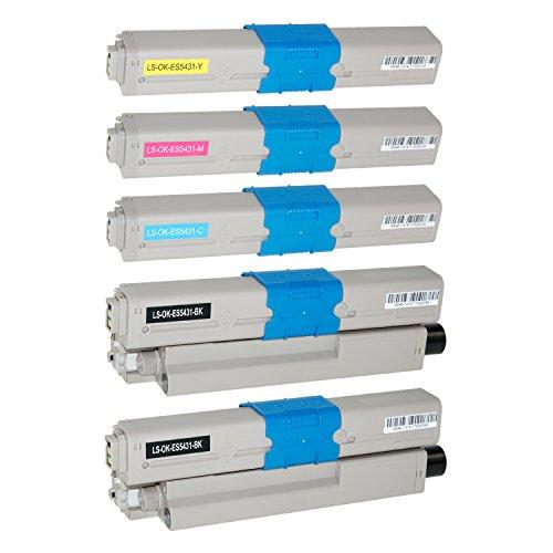 Preisvergleich Produktbild Alternativ – Toner für OKI ES5431,  7000 Seiten,  Notebook-Mod. 44973512,  Farbe: schwarz (08) - 5er Set