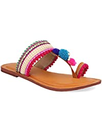 KALAKARINDIA Leather Flats | Classy Ladies Slippers |Formal Ladies Flats | Chappal | Footwear For Ladies | Flats...