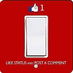 Rikki Knight Like Status and Post a Comment Single Rocker Light Switch Plate, Red