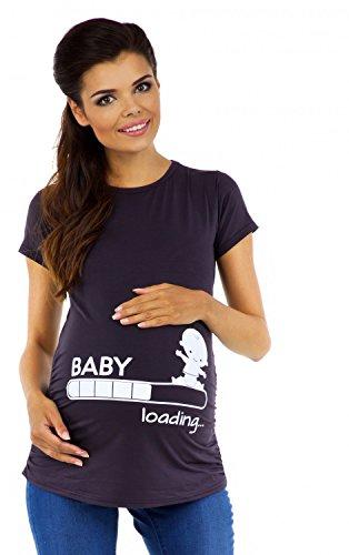 zeta-ville-magliette-premaman-divertente-stampa-top-t-shirt-gravidanza-617c-grafite-bianco-it-38-40