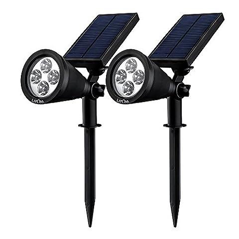 Litom Solar Spotlight Outdoor Wall Light LED Lights, Solar Security
