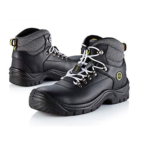 YXWa Ingenieurstiefel Arbeitsschuhe Arbeitsschuhe Turnschuhe Schuhe Wandererstiefel Lederaufstieg leichte Stahlkappe Arbeitsschuhe zu Fuß Sportbekleidung für Männer (größe : 39)