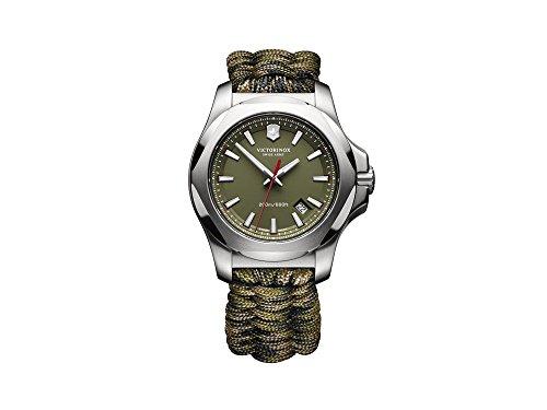 Montre Hommes Victorinox Quartz - Affichage Analogique Bracelet Tissu Vert et Cadran Vert 241727.1