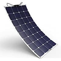 ALLPOWERS 12V 18V 100W Solar Panel SunPower Célula Placa Solar Portatil Flexible Fotovoltaico Módulo Cargador Batería Ligero Impermeable con Mc4 Conector para RV, Barco, Cabina, Tienda de Campaña, Coche, Acoplado