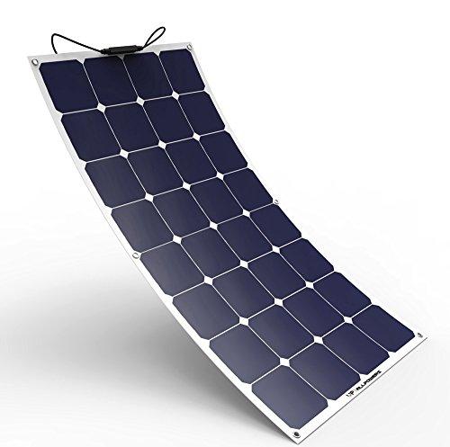 ALLPOWERS Sonnenkollektor 100W 18V biegbares flexibles Solarladegerät 12V Leichtes SunPower Solarmodul mit MC4 für RV, Boot, Kabine, Zelt, Auto, Anhänger, Batterie 12v oder irgendeine andere unregelmäßige Oberfläche