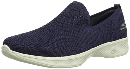 Skechers Damen Go Walk 3 Slip On Sneaker, Blau (Navy NVY), 40 EU (Skechers Go Walk Damen Navy)