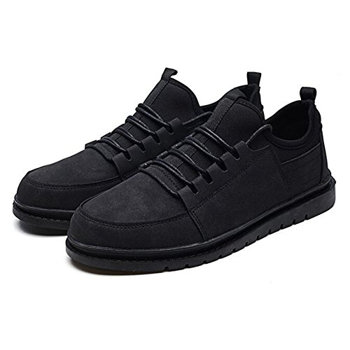 Mr.lq Skateboarding Chaussures Respirant Casual Hommes Gym Chaussures Retro Fashion Black