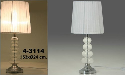 Lampe de bureau en métal et verre