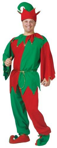 Unbekannt Weihnachts-Wichtel Kostüm für Erwachsene - rot/grün - One Size