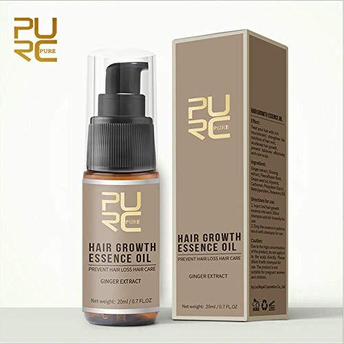 Haarwuchsmittel für Männer Frauen Natürliches Öl Serumverlust Wachsen Schnelle Behandlung 20 ml Haarwuchs Täglich Pflegend (Braun, OneSize)