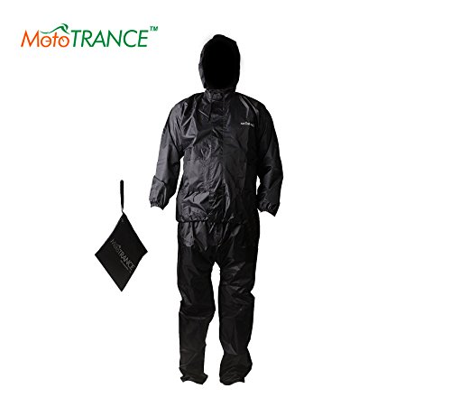 Mototrance Coated Poly Raincoat (Mt610061_Black_X-Large)