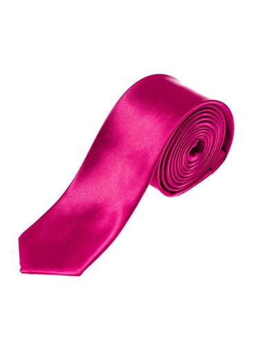 BOLF Herren Krawatte Hochzeit Konfirmation Tie Business Schmal LANVINO K001 Violett (Dunkel) |