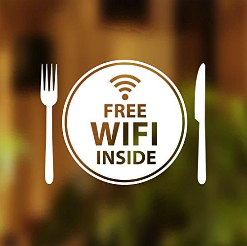 Wifi gratuito Interior placa ventana Sign Vinilo gráficos