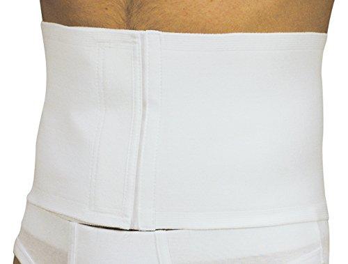 Manifattura bernina sana 55103 (taglia 5) - fascia vita pancera post-operatoria addominale regolabile in cotone chiusura velcro altezza 18 cm