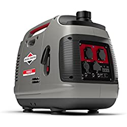 Generador inversor portátil de gasolina Briggs & Stratton PowerSmart Series P2200 de 2200 vatios/1700 vatios de energía limpia, ultra silencioso y ligero