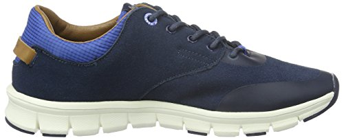 Pepe Jeans Coven Woven, Baskets Basses Garçon Bleu - Blau (Ace Blue 590)