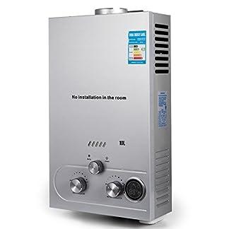 Cueffer LPG Calentador de Agua Calentador de Agua de Gas Licuado 36KW Calentador de Agua Automático LCD Digital Calentador de Agua Instantáneo Propane Gas Hot Water Heater (10L)