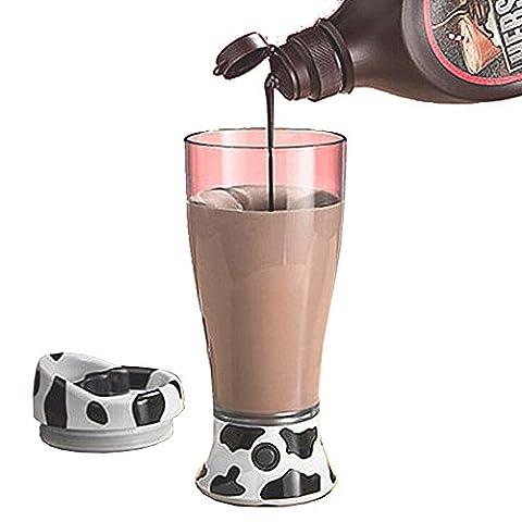 Gossip garçon mignon et portable Skinny Moo Tasse auto-mélangeuse Ultimate Chocolat Lait pour café jus pour bouteille