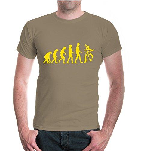 buXsbaum® T-Shirt The Evolution of cello Khaki-Sunflower