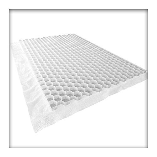 Wabenmatte Standard incl. Antiunkrautvlies , Kiesgitter, Kiesmatte, Bodenwaben, Kiesstabilisierung weiss 11,52 m² 4 Platten
