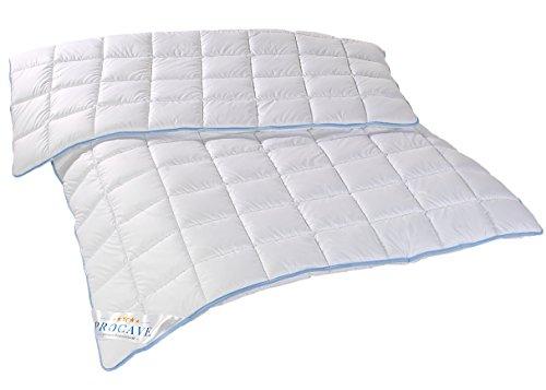 PROCAVE TopCool warme Duo Winter-Qualitäts-Kinder-Bettdecke für die kalte Jahreszeit | Soft-Komfort-Bettdecke | kochfeste Steppdecke | atmungsaktiv & wärmeausgleichend | Made in Germany | 100x135cm