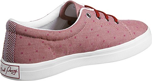 Fred Perry Aubyn Flocked Chambray W Scarpa Rosso