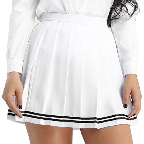 83f9432e65af0 Freebily Falda Plisada Japonesa Niña Chica Mujer Falda Escolar Cintura Alta  Uniforme de Cosplay Disfraces Talla