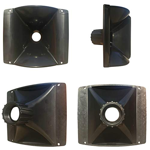 MASTER AUDIO KHD160 tromba con filettatura da (1') da 160 x 140 x 103 mm in resina abs per driver tweeter 1 pezzo
