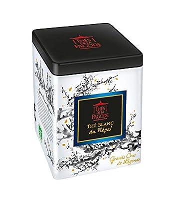 Thé blanc du Népal bio par Thés de La pagode?Thé blanc du Népal - Boite en métal de 50 grammes?Grand cru de légende?Thé en vrac bio