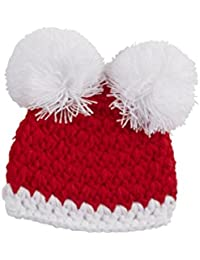 Mud Pie Baby Newborn Christmas Pom-Pom Hat (Newborn)