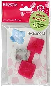 Blossom - Stampo in silicone e tagliapasta per fiori pasta di zucchero - Ortensia