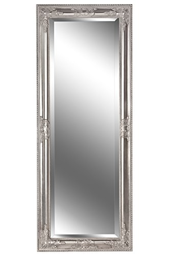 B.U.S. Wohnstyle Spiegel Wandspiegel Badspiegel Annabell antik Silber Barock 130 x 50 cm