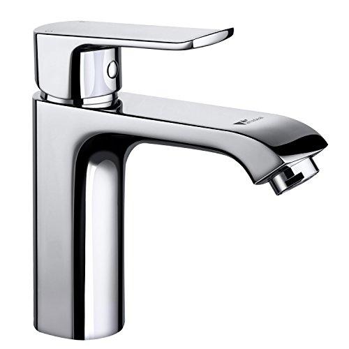Amzdeal Wasserhahn Bad Waschbecken Waschtischarmatur, Einhebelmischer Badezimmer Waschtisch Armatur, Mischbatterie Bad Waschtischarmatur mit Brause