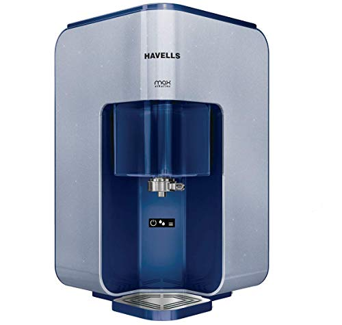 Havells Max Alkaline 7-Liter RO+UV Water Purifier (Blue)(Solid)