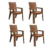 #3: Cello Jordan Set of 4 Chairs (Sandalwood Brown)
