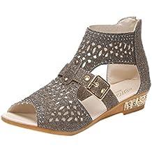 Chaussures Femme Été, Oyedens 2017 Peep-Toe Sandales Bohémien Plates Chaussures de Plage Tête de poisson Sandales Creuses Mules
