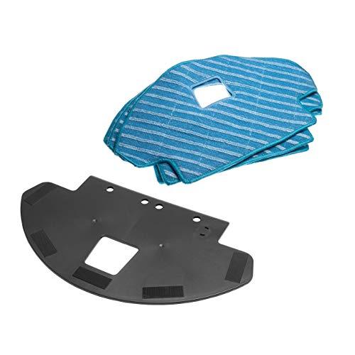 vhbw Zubehör-Set Wisch-Set für Ecovacs Deebot Ozmo 930 Staubsauger Saugroboter Wischroboter - Mikrofaser-Reinigungstücher, Reinigungstuchplatte