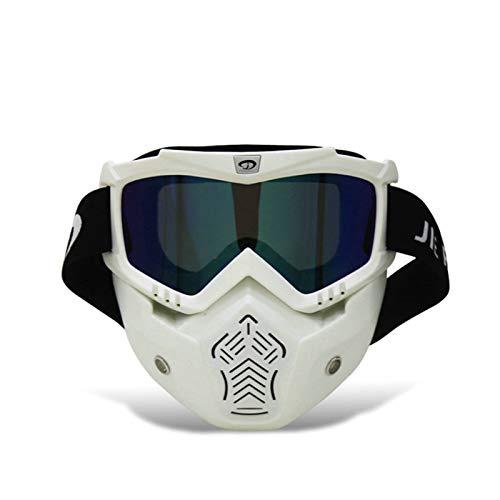 Aeici Sportbrille PC Radbrille Herren Polarisiert Sport Motorradbrille Vintage Weiß Bunt