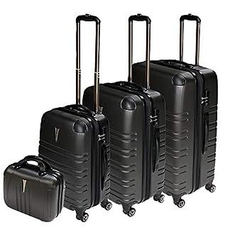 REISEKOFFER-REISEKOFFERSET-Trolley-Koffer-4-Set-XL-L-M-Kofferset-REISEKOFFER-Beauty-CASE-Anthrazit-TSA-Schlo
