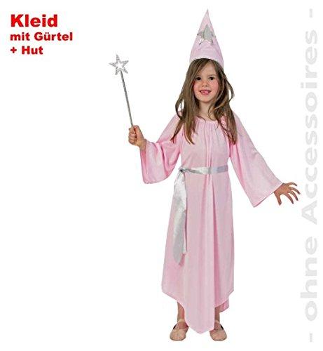 Fee Elfe 3tlg. Set 128 Kleid mit Gürtel + Feehut Kinder-Kostüm Fasching (Grand Pabbie Kostüm)