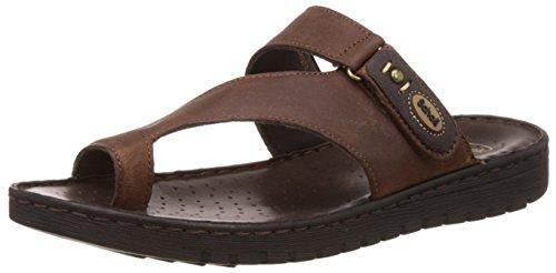 Dr.Scholls Men's Sung Toe Ring Brown Hawaii Thong Sandals - 10 UK/India (44 EU) (8748997)
