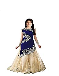 Fashion Dream Women's Designer Embroidery Semistitched Party Wear Salwar Suit Dress Material (8-12 Year baby Girls)