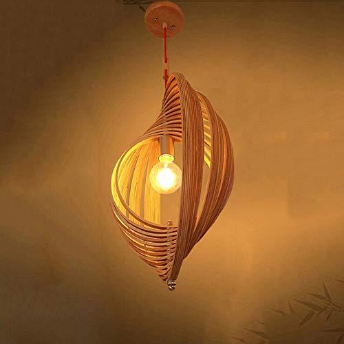 ♪ * Moderne kreative neue chinesische einfache Holz Spirale Kreis Holz Kronleuchter Esszimmer Wohnzimmer Schlafzimmer Büro Kronleuchter (Größe optional) Innenbeleuchtung Kronleuchter (Größe: 50 cm) ♪ -