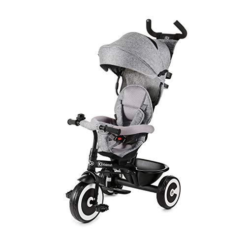 Kinderkraft Aston Triciclo Bebé Plegable Trike Bicicleta para Niños gris