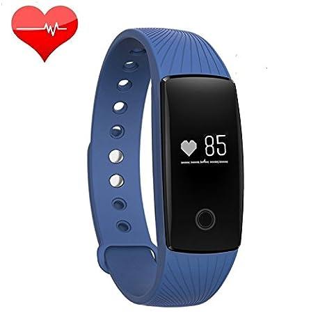 Acfun ID107 plus Bluetooth 4.0 intelligent Bracelet bande à puce Moniteur de fréquence cardiaque Wristband Fitness Tracker pour Android iOS Smartphone