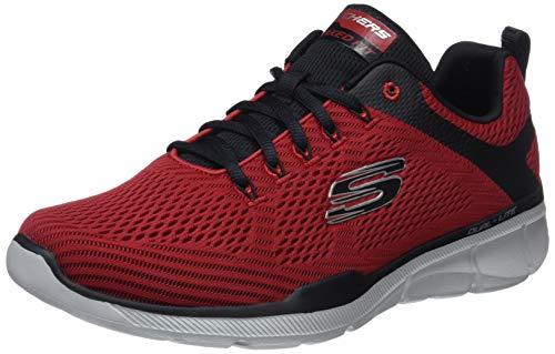 Skechers equalizer 3.0, scarpe sportive indoor uomo, rosso (red/black rdbk), 45 eu