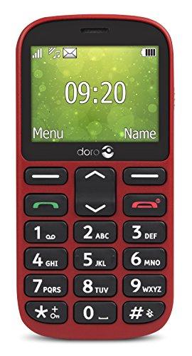 Doro 1361 Easy - Teléfono Móvil (Memoria Interna DE 32, 8 GB RAM), Color Rojo